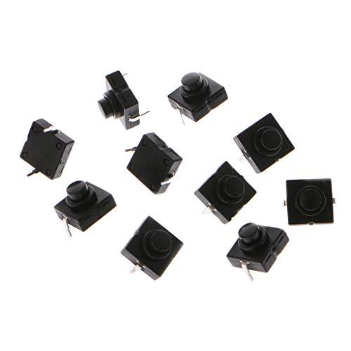 Rtengtunn 10 Stück Taschenlampe Schalter Taste 1A 30V 2Pin CB-1212-112D Ultra-Thin Medium Feet