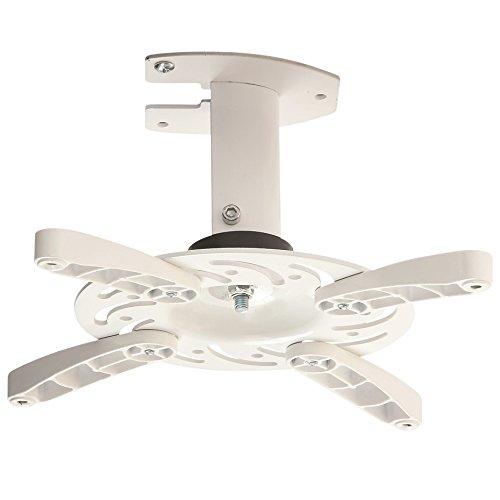 NEG Profi Beamer-/Projektor Deckenhalterung Beamis101W (weiß) schwenkbar, neigbar, drehbar (universal anpassbare Befestigung) und bis 15kg belastbar