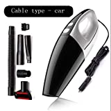 JOEPET Car Vacuum Cleaner, 12V 120W Portable Handheld Auto Vacuum for Car of 4.0 Kpa Strong Suction Wet & Dry Multifunktionales Cyclonic Design,Black,Wired