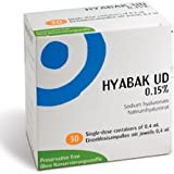 Hyabak Unidose 30 single dose vials of 0.4ml *NEW*