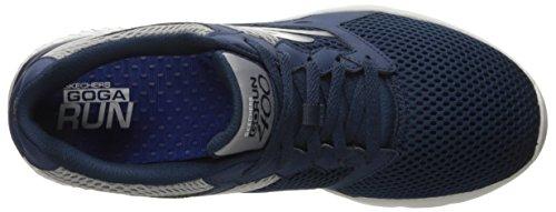 Skechers Go Run 400, Chaussures Multisport Outdoor Homme Bleu (Nvgy Marine)