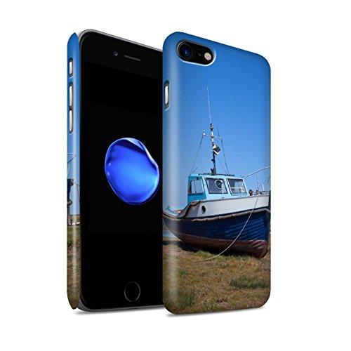 STUFF4 Matte Snap-On Hülle / Case für Apple iPhone 8 / Küste Muster / Britischen Küste Kollektion Blau Boot