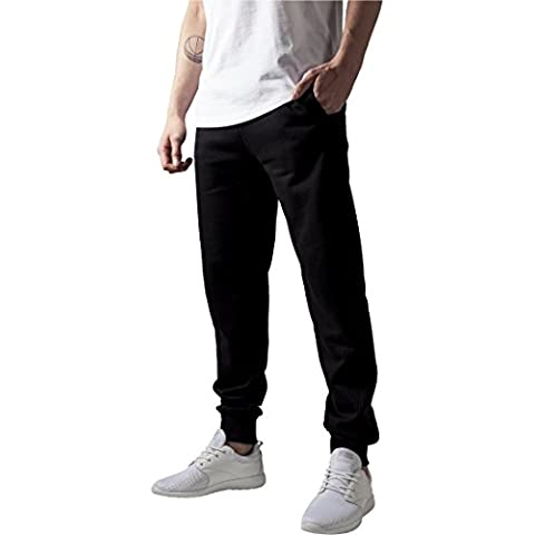 Urban Classics TB252 Straight Fit Sweatpants Pantalone Tuta uomo BLACK M