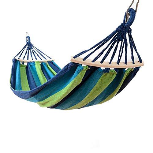 Taoshi CBEC Tragbarer Hängesessel Camping Outdoor Gartenschaukel Einzelperson Ganzjahresbett Outdoor, Hängematte zu Hause, Blue 200 x 150cm