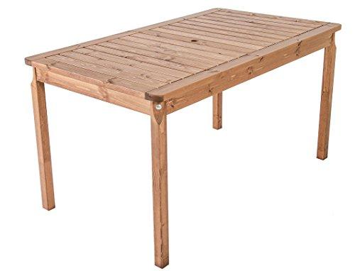 Ambientehome Gartentisch Tisch Massivholz