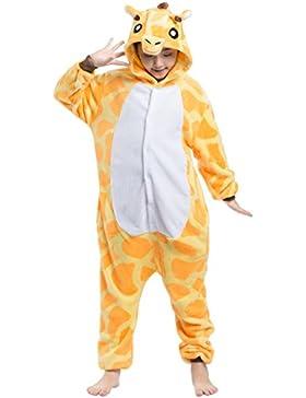 Pijama Jirafa, Franela Onesie Animal Cosplay para Niños entre 1,14 y 1,46 m Unisex Kigurumi