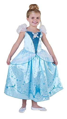 ess Cinderella Royale Mädchen Kostüm Fasching Karneval: Größe: S (Cinderella Kostüm Mädchen)