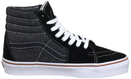 Vans U Sk8 Hi - Baskets Mode Mixte Adulte Noir (Suede/Denim B)