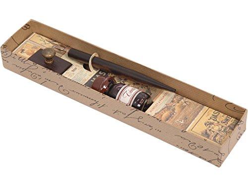 momparler1870 'Set Schreiben Füllfederhalter Holz, Tintenfass und Löschwiege Wood