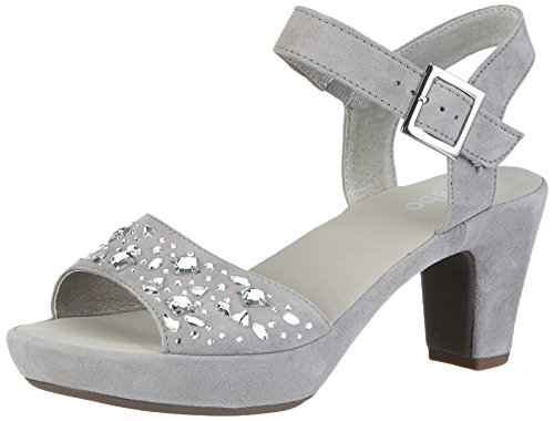 Gabor Shoes 65.751, Sandali con Tacco Donna Grigio (grau Strass)