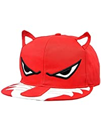 LOCOMO Men Women Embroidered Angry Eye Ear Wolf Baseball Cap FFH072