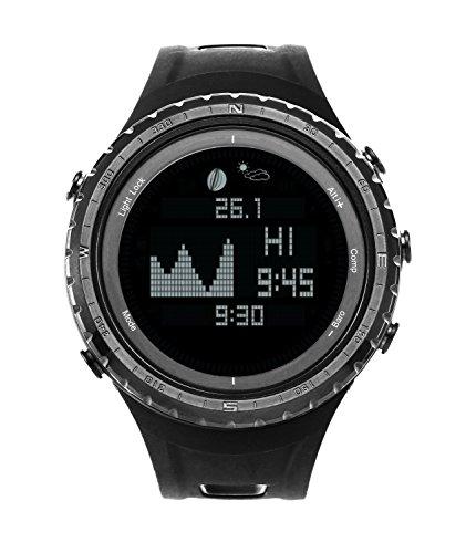 Smart Digital Pesca Deportiva reloj con marea, barómetro, altímetro, brújula, termómetro, y mucho más | mejor Reino Unido pesca y deportes al aire libre reloj con 12funciones (Sunroad modelo g-sw830a)