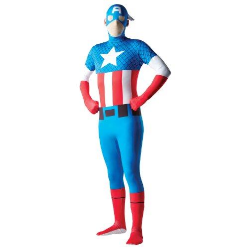 Unbekannt Aptafêtes–cs927536/L–Kostüm–Zweite Haut Captain America–Größe L