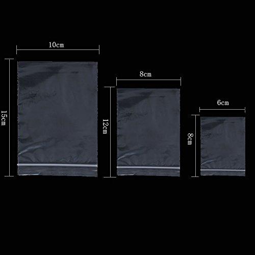ToBeIT 150 Stücke Druckverschlussbeutel Plastikbeutel Zip Beutel Klarsichtbeutel Schnellverschlussbeutel Verpackungsbeutel Plastiktüten (60x80mm/80x120mm/100x150mm)