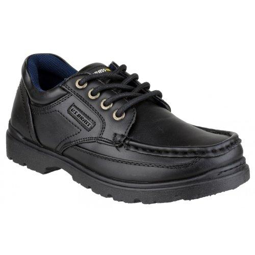US Brass Stubby 3 Boys Back To School Lace Up Shoe /...