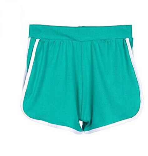 By Samanthajane Clothing - Short - Femme Green White stripe