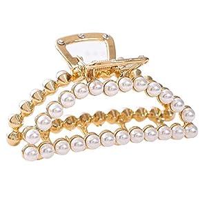 Adult Haarschmuck der gleiche Absatz Metalllegierung Perle Grab Clip niedlichen Frauen erwachsene Haarschmuck – Haarschmuck