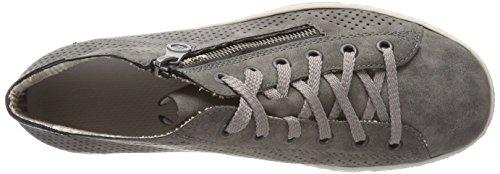 Rieker L9427, Sneaker a Collo Alto Donna Grigio (Smoke/schwarz)