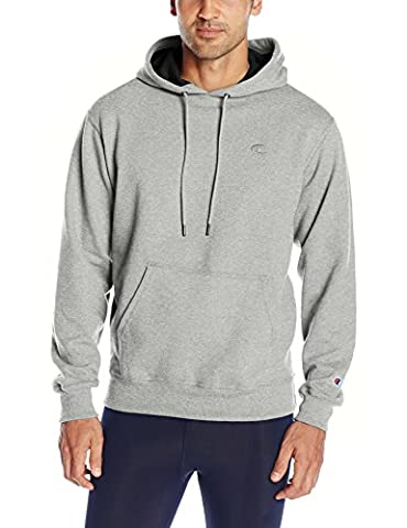 Champion Men's Powerblend Pullover Hoody, Oxford Gray, Large