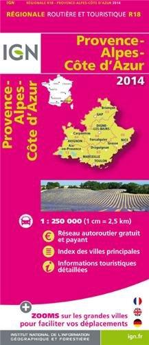 R18 PROVENCE/ALPES/COTE D'AZUR 2014 1/250.000