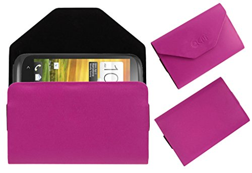 Acm Premium Pouch Case For Htc Desire V Flip Flap Cover Holder Pink  available at amazon for Rs.329