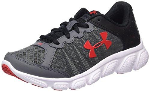 Under Armour Ua Bps Assert 6, Chaussures de Running Compétition Garçon Gris (Rhino Gray 076)