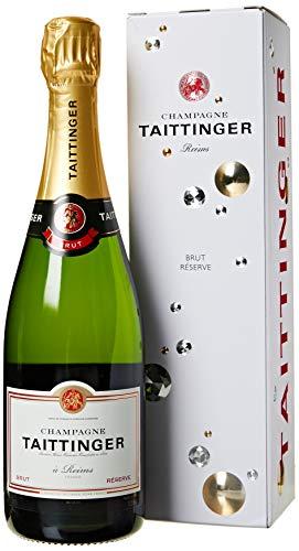 Taittinger brut champagne con scatola, cl 75