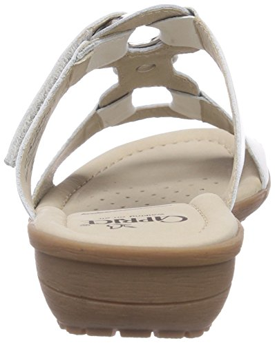 Caprice  27153, Sandales pour femme Blanc - Weiß (WHITE/100)