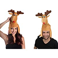 Große Herren und Damen Rentier Elch Weihnachts Hut Mütze Nikolausmütze Nikolaus