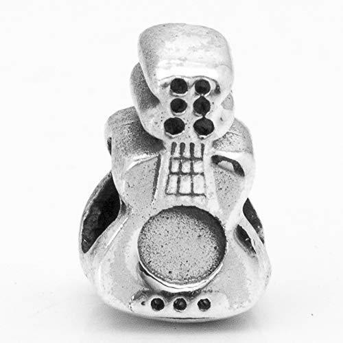 Abalorio charm Guitarra Plata de Ley compatible con Pandora