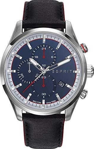 Esprit Mens Chronograph Quartz Watch with Leather Strap ES108391005