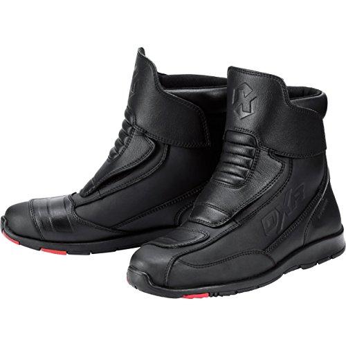 Kurze Schwarze Stiefel (DXR Motorradstiefel Touren Stiefel kurz 1.0 schwarz 43)