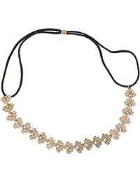 LUX accesorios dorado filigrana novia ocasión especial elástico diadema