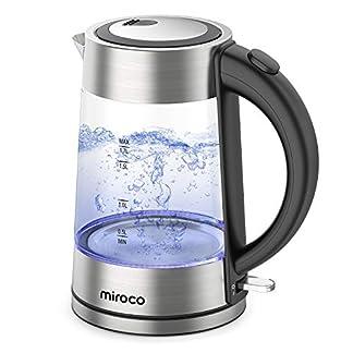 Miroco-Glas-Wasserkocher-Wasserkocher-17-Liter-Edelstahl-Glaswasserkocher-mit-Teesieb-Glaswasserkocher-mit-LED-Innenbeleuchtung-Trockenlaufschutz-Warmhaltefunktion-BPA-Frei-2200W
