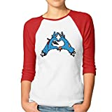 Women's Zombie Love 3/4 Sleeve Baseball tee Raglan T-Shirts