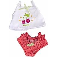 Nenuco Pack de Camisilla y Braguitas Diseño Blanco y Rosa con Cerezas (Famosa 700013433)