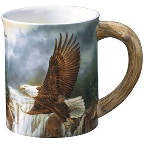 Majestic Flight Bald Eagle Sculpted Gift Mug by Wild Wings