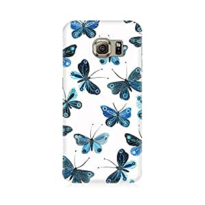 RAYITE Blue Butterfly Premium Printed Mobile Back Case Cover For Samsung S7
