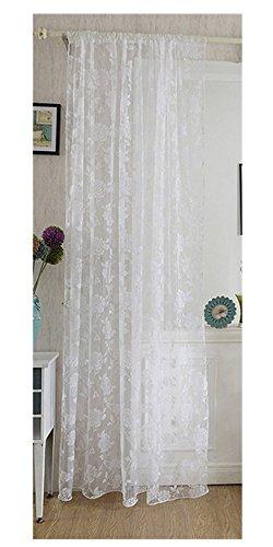 Nibesser Vorhänge Transparent Schlaufenschal Gardine Dekoschal Voile für Schlafzimmer Wohnzimmer 100×200cm (1 Stück)