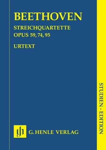Quatuors cordes Opus 59/74/95 - Conducteur Poche