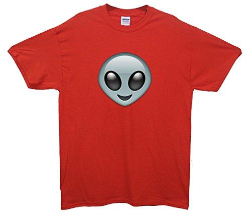 Alien Emoji T-Shirt Rot