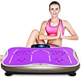 Vibrationsplatte Fitness-Übung Vibrationsmaschine Massage Fitnessgerät mit Fernbedienung 3D-Stereo-Musik Ladegewicht 150kg