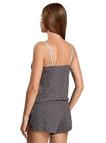 oodji Ultra Femme Combinaison d'Intérieur en Coton Gris (2573G)