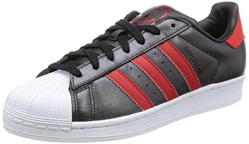 adidas Superstar, Baskets Basses Femme, Noir/Blanc, Taille Unique Multicolore - Multicolore (Cblack/Colred/Colred)