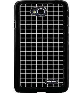 ColourCraft Squares Pattern Design Back Case Cover for LG L70