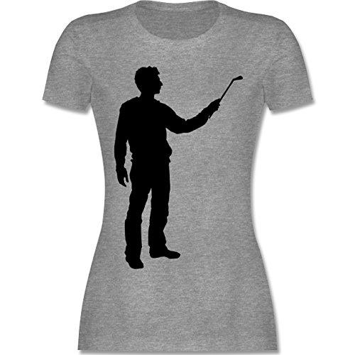 Handwerk - Maler - tailliertes Premium T-Shirt mit Rundhalsausschnitt für Damen Grau Meliert