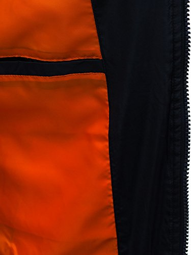 BOLF Herren Bomberjacke Military Camo-Muster MIX Dunkelblau_J906