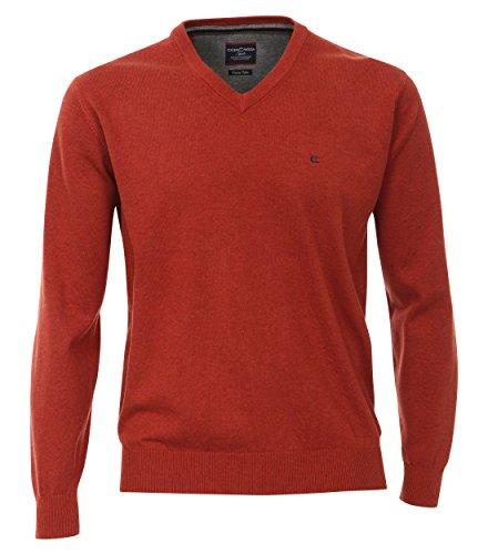 Casa Moda - Herren Pullover mit V-Ausschnitt in verschiedenen Farben (004130), Größe:3XL, Farbe:Orange (490) (Pima-baumwolle Pullover)