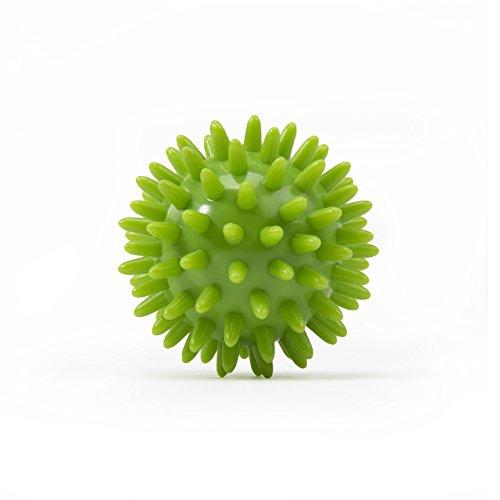 Kleiner Noppenball, Igelball mit 6 cm Durchmesser (lime-grün) Massageball für Selbstmassage, Reha & Fitness, Reflexzonen - auch als Set verfügbar