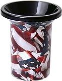 Mudjug Roadie American Flag Portable Spittoon Traveler - Virtually Spillproof - Stars and Stripes Mudjug